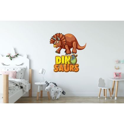 Triceratops Dinosaur Wall Decal for Kids Room Jurassic Park