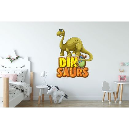 Brontosaurus Dinosaur Wall Decal for Kids Room Jurassic Park