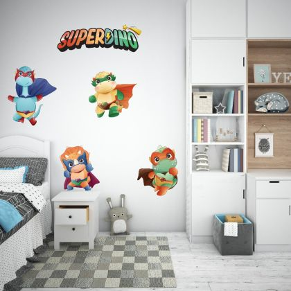 Superdino Team Wall Decal for Kids Room Jurassic Park