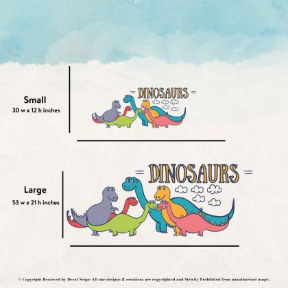 Brontosaurus Group Wall Decal for Kids Room Jurassic Park- Dino peel&stick wall sticker, Dinosaurs Jurassic Park