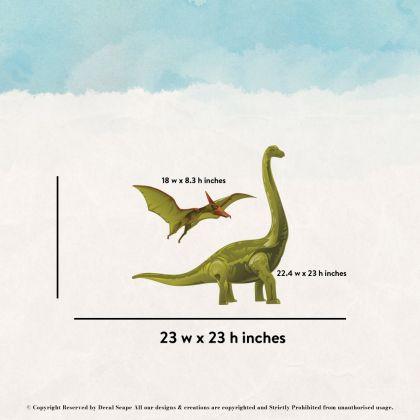 Brontosaurus Wall Decal for Kids Room Jurassic Park- Dino peel&stick wall sticker, Dinosaurs Jurassic Park