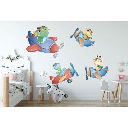 Flying Dinosaur Wall Decal for Kids Room Jurassic Park