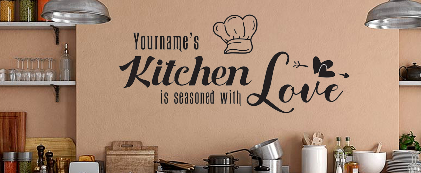 Personalize Your Kitchen with our Kitchen Quote Stickers and Decals