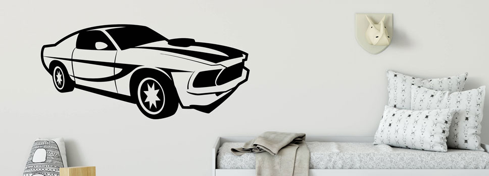Car Wall Stickers for Kids Theme-Based Room Decor