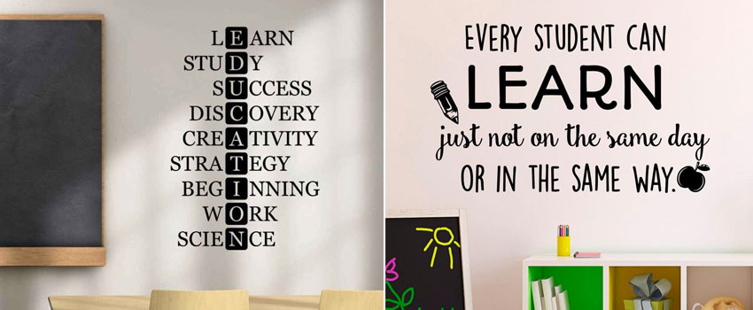 How to use Wall Decals in Schools
