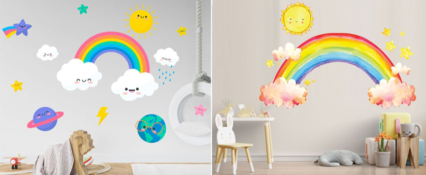 Improve The Decoration Of Your Bedroom With A Rainbow Wall Decal?