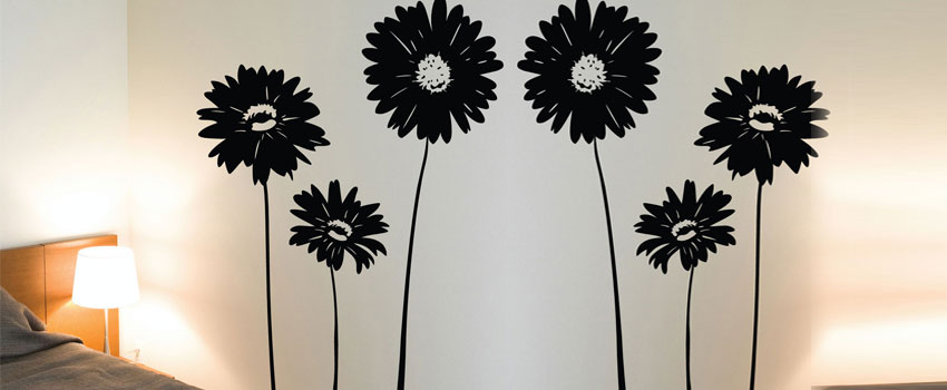 Flower wall stickers | Best design for bedroom