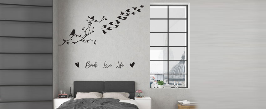 Nature Wall Murals| Creative ways to decorate living room