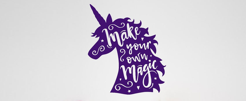 Give a Quirky and Perky Look with Unicorn Wall Stickers