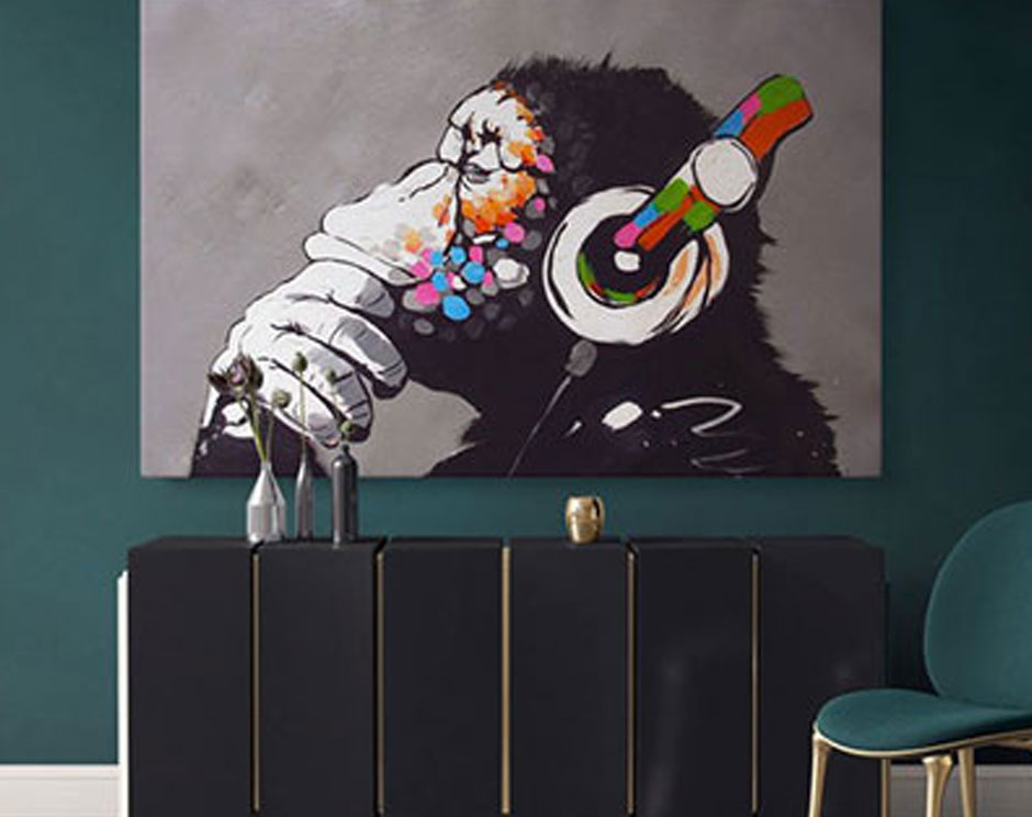 Add a Sense of Humour and Fun to Walls with a Banksy Canvas