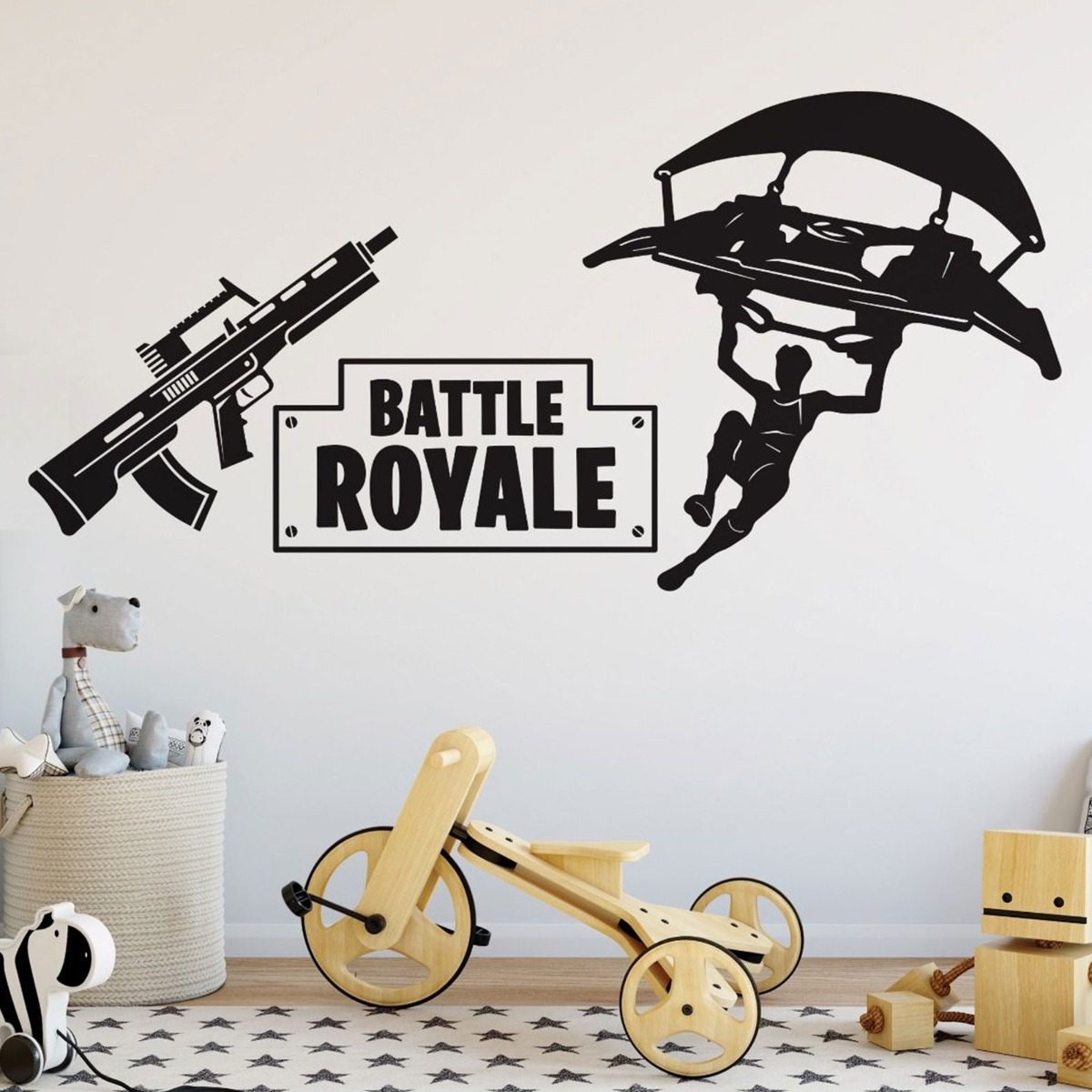 Details about  /Battle Royal Fort night 3D Window Wall Sticker Removable Kids Decals Art